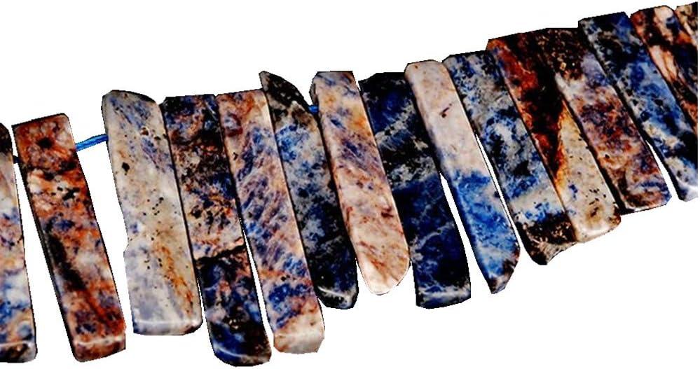 Natural Popular popular Blue Grain Stone Crystal Str Irregular Recommendation Beads Points Flat