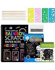OUQIWEN 3 paquetes de papel para rascar, juego de manualidades con arco iris para manualidades, para regalos de manualidades, juegos de fiesta.