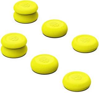 Skull & Co. Skin, CQC and FPS Thumb Grips Joystick Cap Analog Stick Cover for Xbox Controller- Cyberpunk Yellow, Set of 6