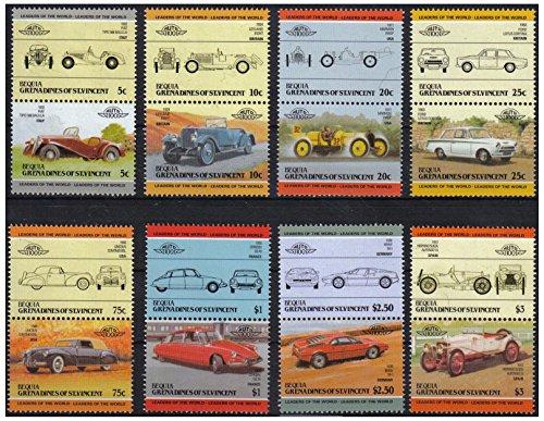Auto 100 Automobiles Serie 2 8 auto d'epoca coppie bollo automobilistico / Bequia Grenadines di St. Vincent / 1984 / MNH