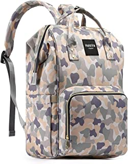 HaloVa Diaper Bag Multi-Function Waterproof Travel Backpack Nappy Bags for Baby Care, Large Capacity, Stylish and Durable, Camouflage Pink