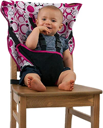 Cozy Cover Easy Seat Portable High Chair (Pink) - Quick, Easy, Convenient Cloth Travel High Chair Fits in Your Hand B...