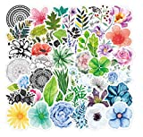 50PCS Plant and Flower Stickers Refrigerator Water Cup Mini Waterproof Decal Notebook Scooter Phone Case Guitar Teen Fashion Sticker