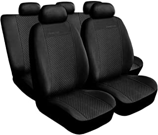 Schwarz-graue Sitzbezüge für SUBARU OUTBACK Autositzbezug Komplett