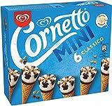 Cornetto Mini Helado en Cono Clásico con nata, ríos al chocolate y trocitos de avellanas - Paquete de 6 x 60 ml