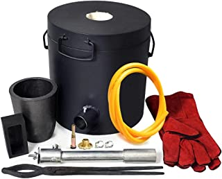 ToAuto Metal Melting Furnace Kit, 6KG Gas Propane Smelting Furnace Gold,Silver,Copper Casting 1500C (2700F), Clay Graphite...