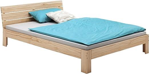 Cadre de lit double avec une t/ête de lit de cadre de lit m/étallique solide,White