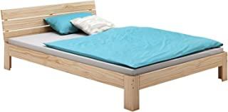 IDIMEX Lit Double pour Adulte Thomas avec tête de lit, Couchage 140 x 200 cm 2 Places / 2 Personnes, en pin Massif Vernis ...