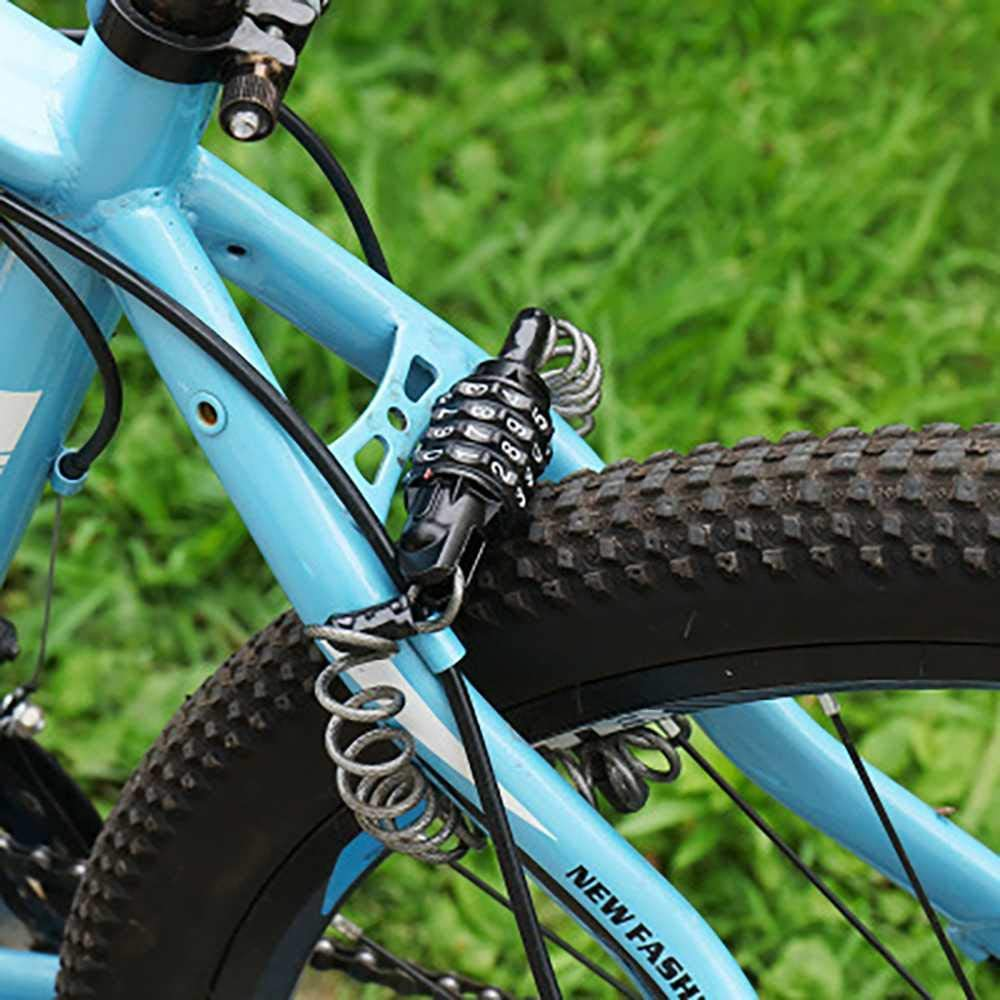 Suitable for Outdoor Bicycles Scooters 160cm // 5 feet Combination Cable Lock High Security Resettable Code Lock Mountain Bikes SKOOTE Bicycle Lock Wire Chain Lock