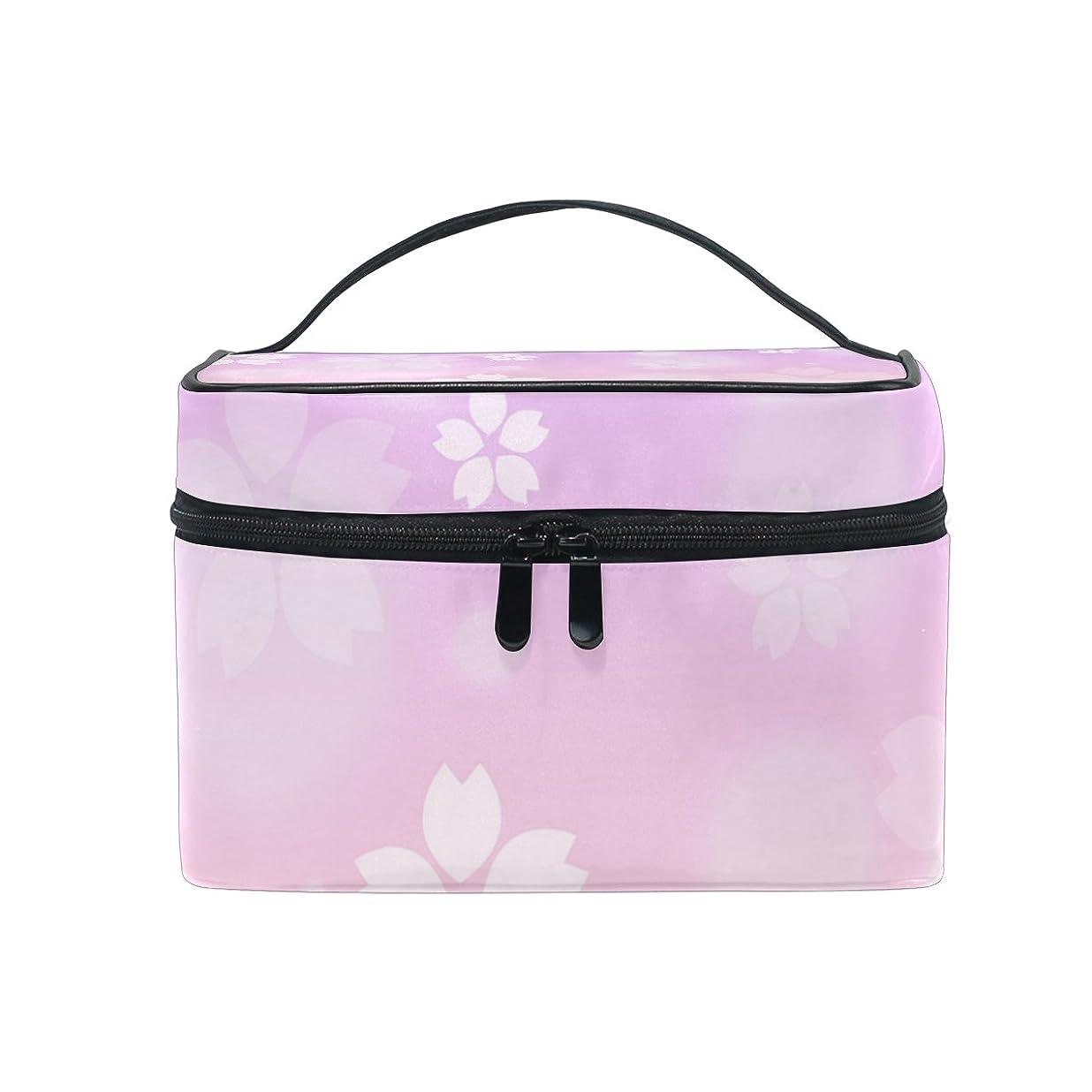 特別な自体ルアーALAZA 化粧ポーチ 花柄 はな柄 化粧 メイクボックス 収納用品 ピンク 大きめ かわいい