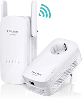 TP-Link AC1350 TL-WPA8630 - Kit Extensor de Red Powerline Ver 2.0(1350 Mbps de Banda Dual, AV1300 Powerline Speed, Gigabit, 2 x 2 MIMO, Plug and Play, Clon Wi-Fi, Wi-Fi Move, Control App, IPTV)