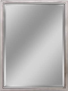 Head West 30 x 40 Classic Brush Nickel/Chrome Mirror, 30x40