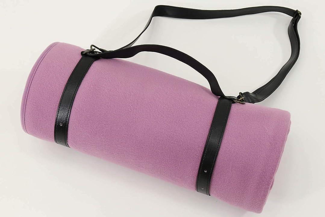 肘削る咲く公式三井毛織 フリース 毛布 ショルダーベルト付 140x200 cm シングルサイズ (ローズ)