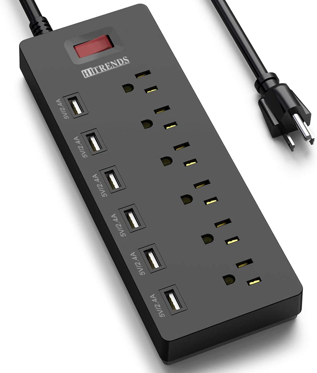 Power Strip HITRENDS Surge Protector AC Outlets with New products world's highest quality popular USB 5% OFF 6