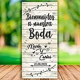 Decoración Boda | Cartel Boda Bienvenidos White | 70cm x 150cm