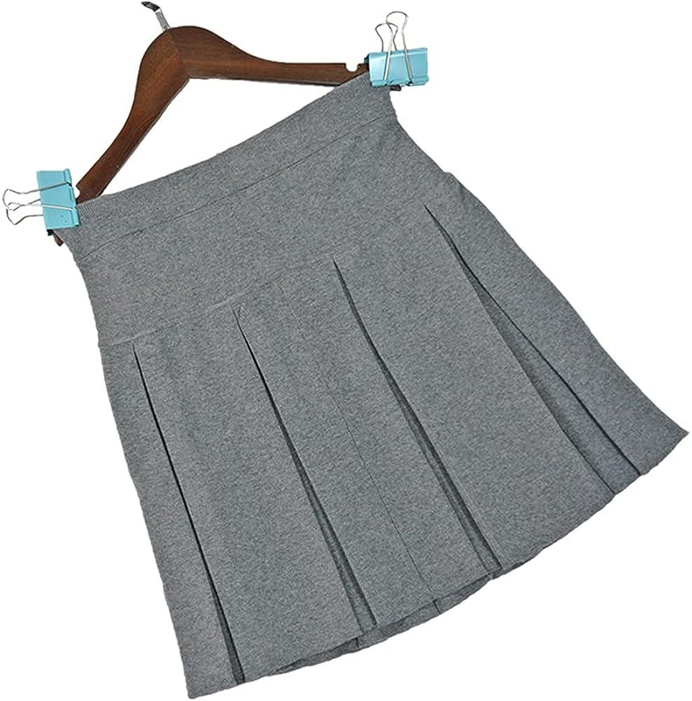Girl School Uniform Tennis Pleated Skirt High Waisted Tennis Skater Short A-Line