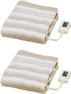 なかぎし 敷き電気毛布 NA-023S 140×80cm 頭寒足熱配線 本体丸洗いOK 温室センサー付 2枚セット