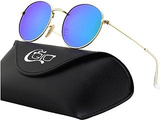 bc39a82356 CGID E01 Estilo Vintage Retro Lennon inspirado círculo metálico redondo  gafas de sol polarizadas para hombres