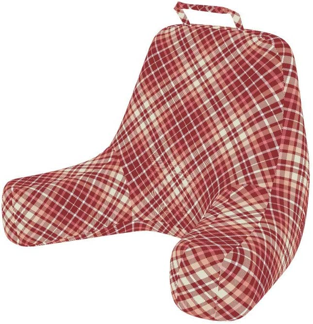 Ambesonne Plaid Ranking TOP1 Reading Cushion with Sales for sale Pocket Back Checker Tartan