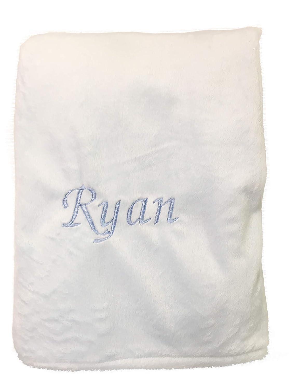 Baby Doll Bedding Personalized Minky Blanket, Blue Ryan