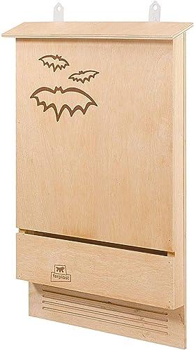 Ferplast Maison pour chauve-souris BAT HOUSE Nid pour chauve-souris en bois FSC, Protection contre les moustiques et ...