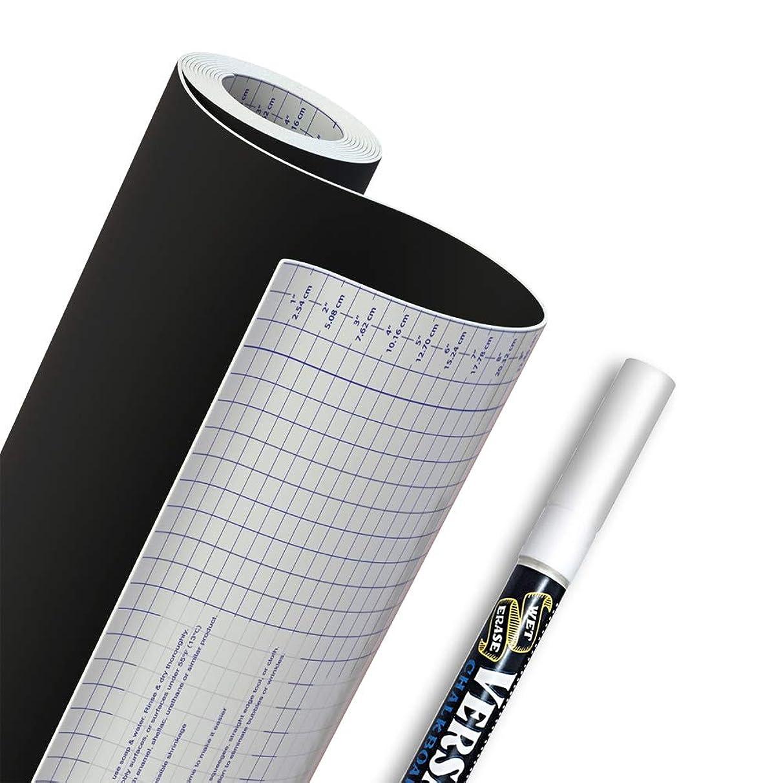 Chalkboard Vinyl Contact Paper + Bonus Chalk Marker - 18