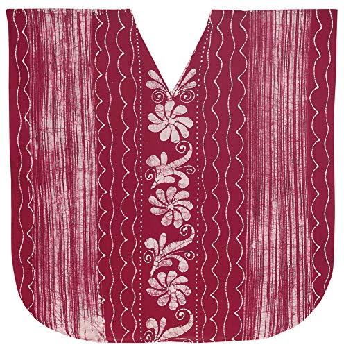 LA LEELA señoras 5 en 1 100% algodón Batik túnica Suelta Arriba Vestido de Noche del Bikini del Traje de baño del Kimono Boho encubren Loungewear Ropa de Playa Corto de Color Rosa caftán