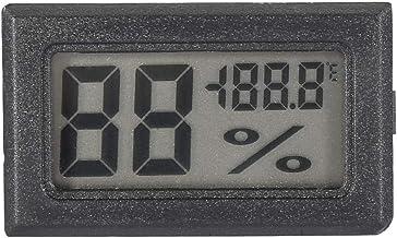 Termómetro Higrómetro Medidor, LCD digital Higrómetro Termómetro interior Monitor de humedad para el hogar, la oficina, el invernadero(Negro)