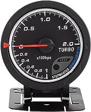 Keenso 60mm LED Turbo Boost Vacuum Press Gauge Meter Black Shell Universal para Auto Racing Car 0-200 Kpa