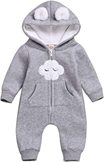 Camidy Toddler Baby Girl Cute Ear Hooded Romper Long Sleeve Jumpsuit Outwear Outfit