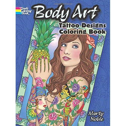 body art tattoo designs coloring book dover design coloring books