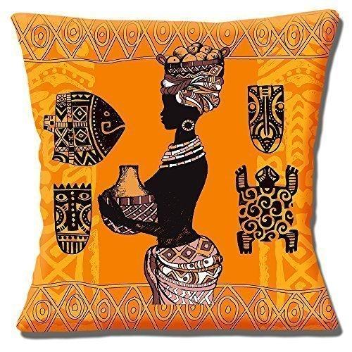 Africain Tribal coccinelle jaune orangé marron nuances ethnique DESIGNS - 16 \