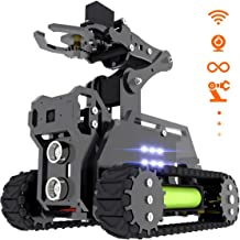 Adeept RaspTank WiFi Wireless Smart Robot Car Kit for Raspberry Pi 4 3 Model B+/B, Tank Tracked Robot with 4-DOF Robotic A...