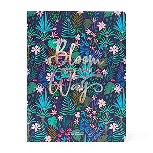 Legami - Cuaderno de rayas, formato B5, grande, 18,5 x 24,8 cm, papel blanco, 100 páginas, encuadernación de punto Singer