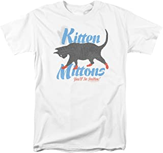 Trevco Kitten Mittons Funny TV It's Always Sunny In Philadelphia Mens Adult T-Shirt White