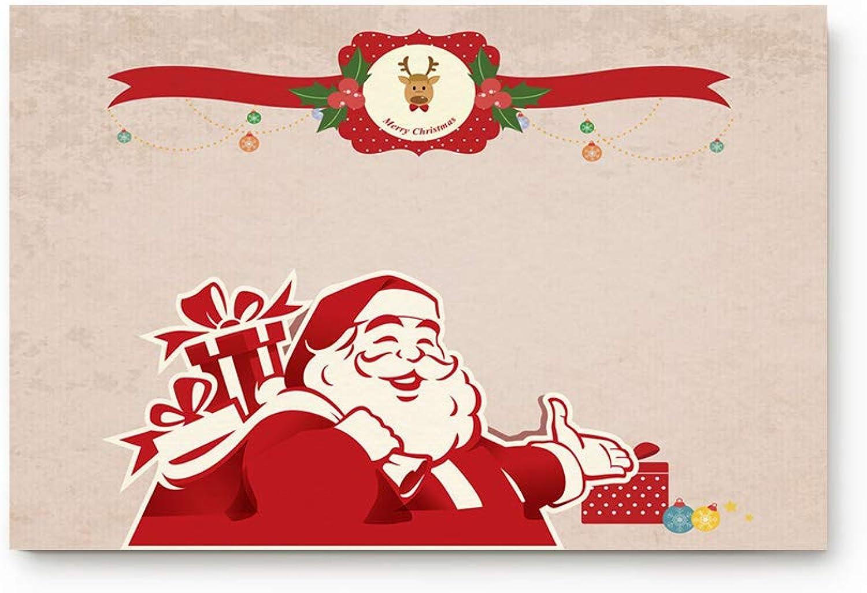 Prironde Doormat Indoor Welcome Mat Christmas Santa Claus with Gift Floor Mat Rug Non Slip Office Bedroom Front Door Bathroom Mats 20x31.5inch Entrance Mat Entrance Mat