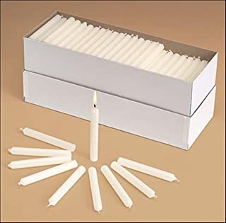 Church Service Memorial Vigil Ceremony Unscented White Candles, Box of 100, 1/2 x 4 1/4 Inch