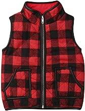 Toddler Little Girls Lightweight Zipper Plaid Quilted Outerwear Coat Sleeveless Vest Winter Padded Gilet Jacket Waistcoat