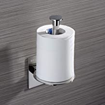 ZMIN No Drill Verticaal Toiletpapier Houders, 304 RVS Wandmontage Toilet Tissue Papier Roll Houder Keuken Badkamer Zilver ...