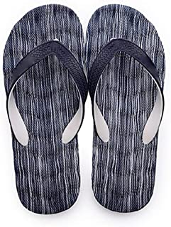 Massage Foam Flip Flops Non Slip Beach Sandals Water Resistant Poolside Footwear (Color : E, Shoe Size : 36)