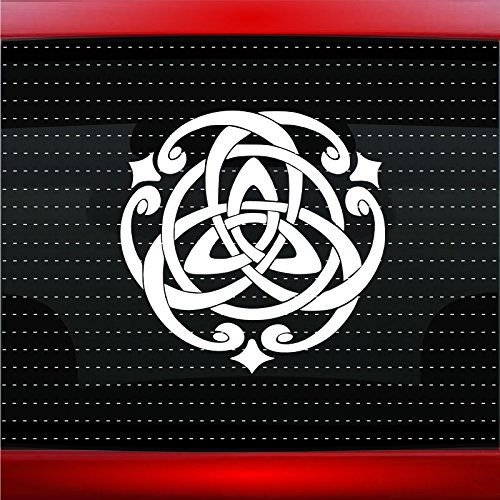 Noizy Graphics Trinity Celtic Knot #1 Christian Car Sticker Truck Window Vinyl Decal Color: White