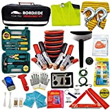 Roadside Assistance Emergency Kit - Multipurpose Emergency Pack Car Premium Road Kit Essentials Jumper Cables...