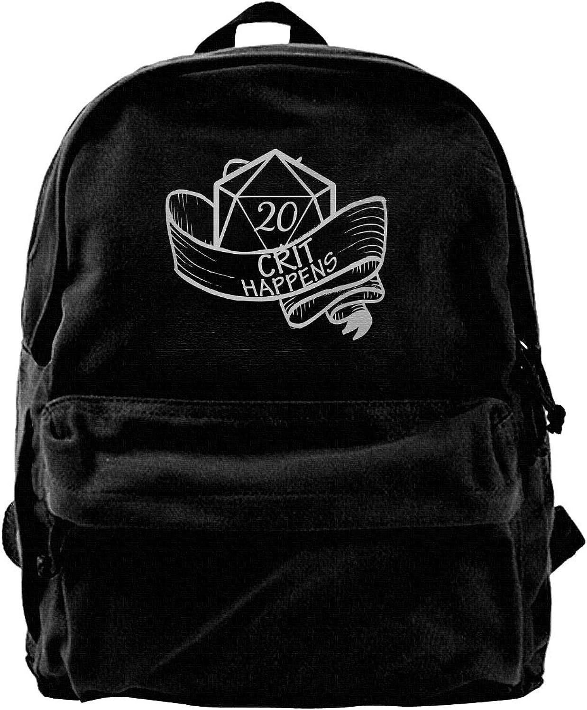 Crit Happens Fashion Lightweight Canvas Travel Backpack for Women & Men