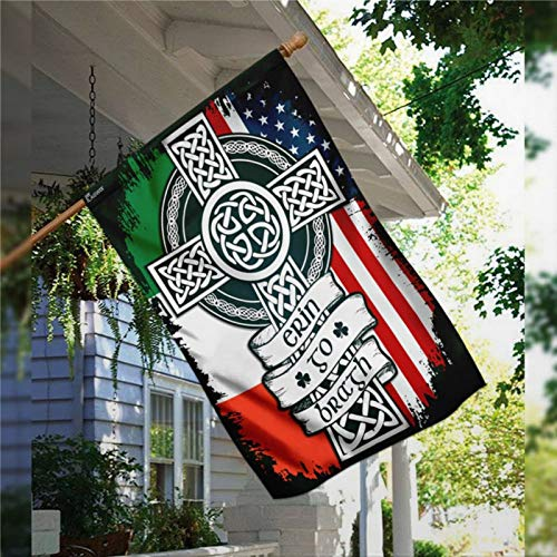 BYRON HOYLE Irish Celtic Cross Garden Flag Decorative Holiday Seasonal Outdoor Weather Resistant Double Sided Print Farmhouse Flag Yard Patio Lawn Garden Decoration 28 x 40 Inch