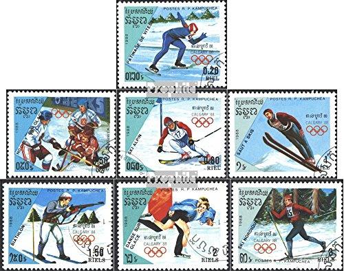 Prophila Collection Kambodscha 911-917 (kompl.Ausg.) 1988 Olymp. Winterspiele, Calgary (Briefmarken für Sammler) Wintersport
