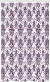 ABAKUHAUS Hamsa Schmaler Duschvorhang, Ombre Blätter Kreise, Badezimmer Deko Set aus Stoff mit Haken, 120 x 180 cm, Pink Lavendel