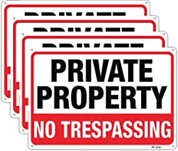 Large No Trespassing Signs Private Property Metal 10x14 Inch Rust Free Aluminum,UV Ink Printing,Durable/Weatherproof Up to...