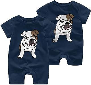 Ives Jean Baby ärmellose Bodysuits Bulldogge niedlichen Baby Boy Mädchen Kurzarm Strampler Jumpsuit Kleinkind Jumpsuit 0-24 Monate