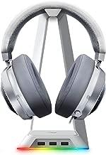 Razer Kraken Gaming Headset + RGB Headset Stand Bundle: Mercury White