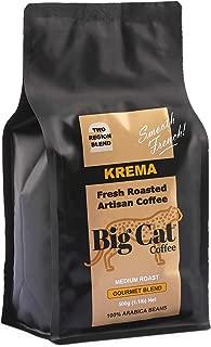 Boost Foodz - Big Cat Coffee - Krema - Artisan Fresh Roasted - Whole Beans - Gourmet French Blend - Medium Roast - 100% Arabica Coffee - 500g Bag - Australian Made